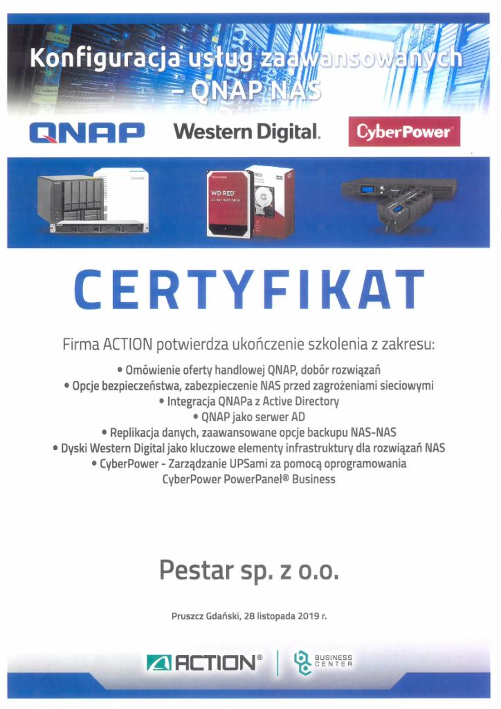 Certyfikat QNAP
